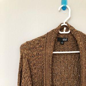 new // Ana | Brown Metallic Sweater
